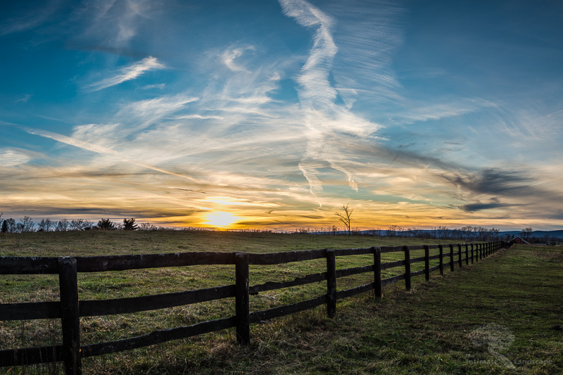 Loudoun County Farmland Sunset